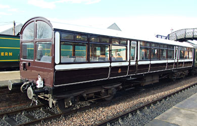 LNWR Observation Car at Sheffield Park - Richard Salmon - 13 December 2014