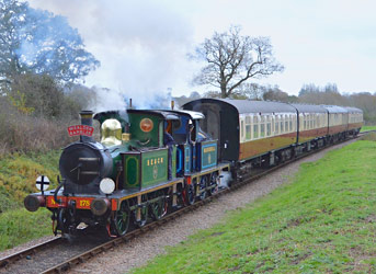 The pair of SECR Ps with the Wealden Rambler afternoon tea train - Steve Lee - 8 November 2014