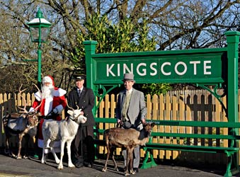 Reindeer with at Kingscote - Derek Hayward - 13 December 2014