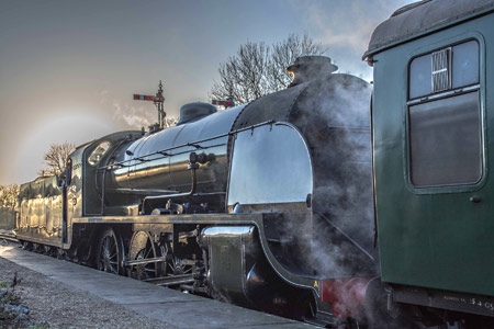 S15 at Horsted Keynes with Santa Special - Nick Burgess - 13 December 2014