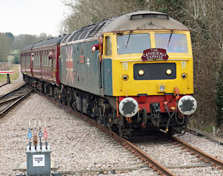 47580 takes the tour onto the National Network at East Grinstead - Brian Lacey - 21 March 2015