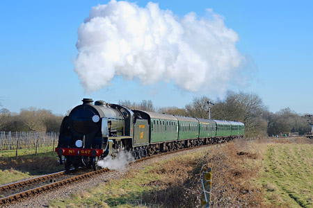 847 with the 2.45pm from Sheffield Park - Steve Lee - 17 February 2015