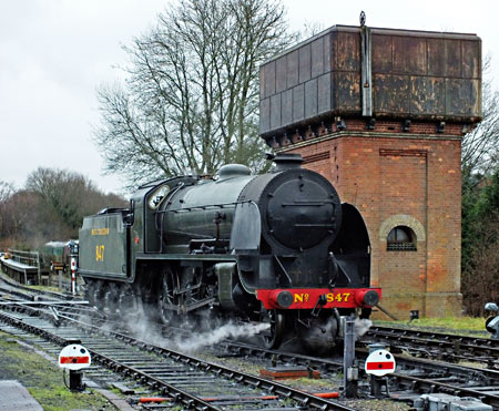 S15 847 with water tower at Sheffield Park - Kenny Felstead - 3 January 2015