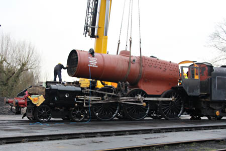Camelot's boiler craned back into frames - Tony Sullivan - 19 January 2015