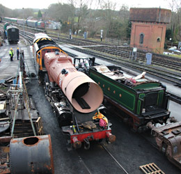 Camelot being shunted into the works - Tony Sullivan - 19 January 2015