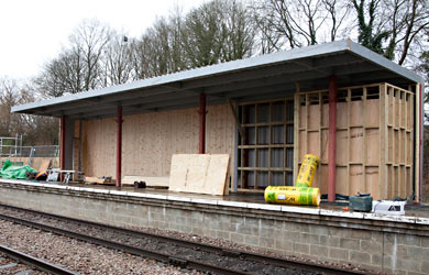Canopy under construction at East Grinstead - John Sandys - 26 March 2015