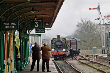 H-class arriving at Horsted Keynes - Brian Lacey - 7 February 2015