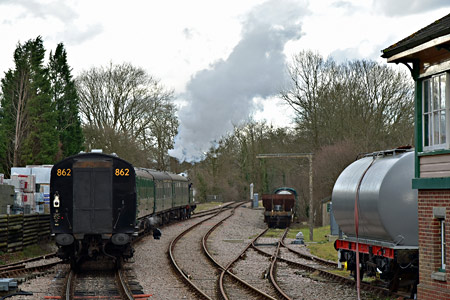 H-class heads its train north from Kingscote - Brian Lacey - 10  January 2015