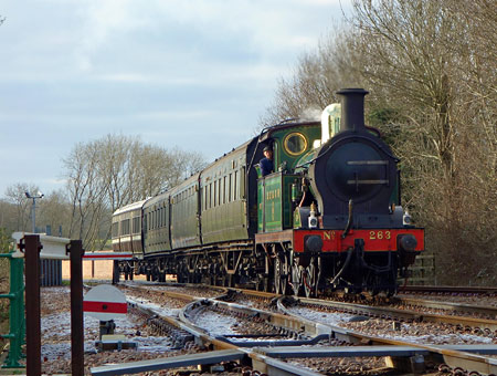 H-class approaching East Grinstead - Brian Lacey - 30 December 2014