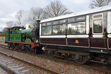 H-class with Observation Car at East Grinstead - Brian Lacey - 30 December 2014