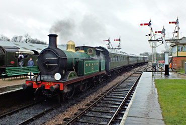 S15 and H-class at Horsted Keynes - Kenny Felstead - 3 January 2015