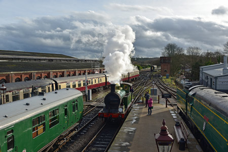 H-class readies itself for the 1.30 departure from Sheffield Park - Brian Lacey - 10  January 2015
