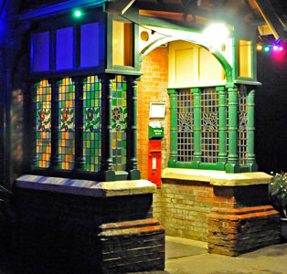 Porch at Horsted Keynes, decorated for Christmas 2014 - Derek Hayward