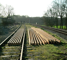 New rail at Horsted Keynes - David Chappell - 11 January 2015