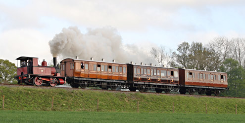 Baxter with test train - David Long - 3 May 2015