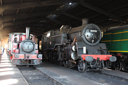 80151 and Baxter in the loco shed at Sheffield Park - Tony Sullivan - 4 June 2015