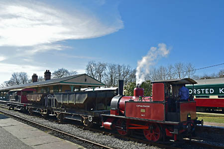 Baxter with short goods train - Brian Lacey - 7 March 2015