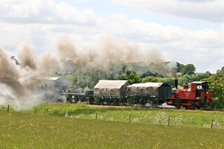 Baxter with vintage goods train - David Long - 30 May 2015