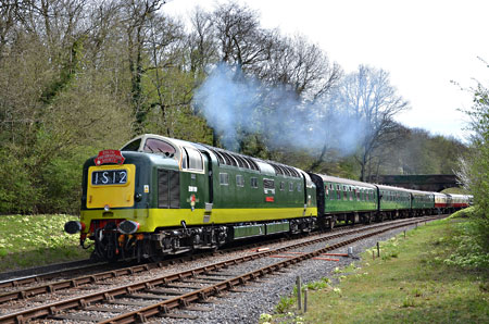 D9009 at Leamland Bridge - Andrew Crampton - 17 April 2015