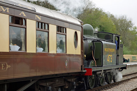 E4 with Pullman Luncheon train at East Grinstead - Brian Lacey - 26 April 2015