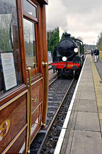 U-class with GNR Saloon at East Grinstead - Brian Lacey - 4 April 2015