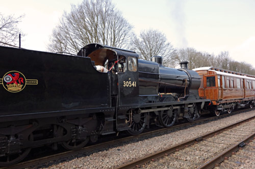 Q-class with test train at East Grinstead - Brian Lacey - 2 April 2015