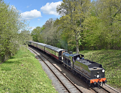 Q-class at Leamland Bridge - Brian Lacey - 28 April 2015