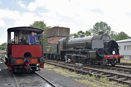 S15 and Baxter at Sheffield Park - Brian Lacey - 13 June 2015