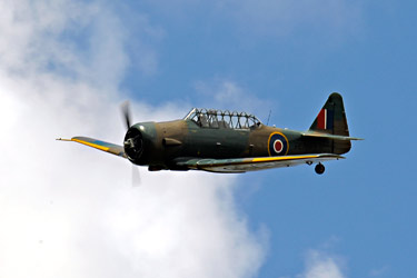 Harvard flypast at Horsted Keynes - Derek Hayward - 9 May 2015