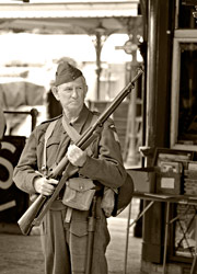 Soldier at Horsted Keynes - Derek Hayward - 9 May 2015