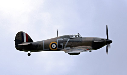 Hurricane during the flypast display - Derek Hayward - 10 May 2015