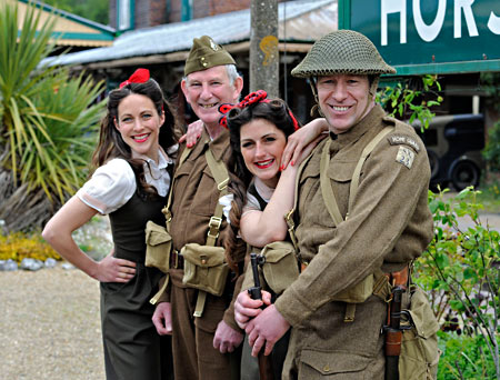 Land Girls and Home Guard at Horsted Keynes - Derek Hayward - 10 May 2015