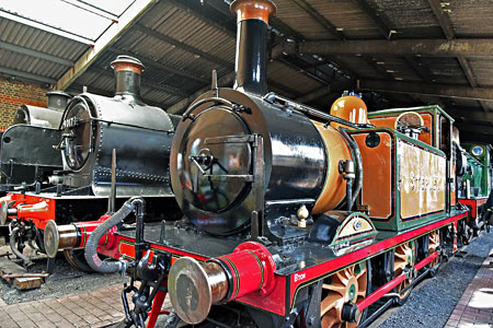 Stepney on display in the shed at Sheffield Park - Brian Lacey - 13 June 2015
