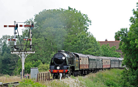 847 departing from Sheffield Park - Derek Hayward - 27 June 2015