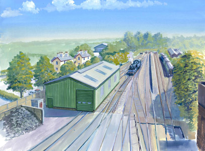 Artist's impression of new locomotive maintenance facility