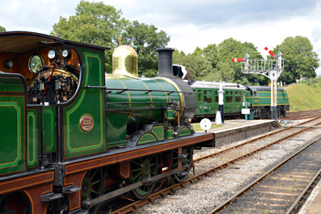 C-class waiting to leave Horsted Keynes - Steve Lee - 25 July 2015