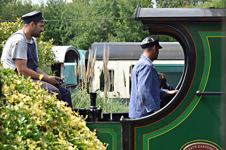 Crew of the C-class at Horsted Keynes - Brian Lacey - 12 August 2015