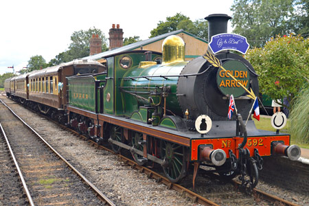 C-class at Horsted Keynes with the Pullman train for a wedding - Steve Lee - 25 July 2015