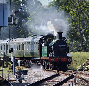 H-class on the Maunsell set, arriving at Horsted Keynes - John Sandys - 19 September 2015