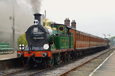 H-class with Victorian carriages at Horsted Keynes - Steve Lee - 30 August 2015