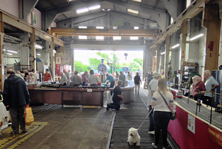 Model Railway Weekend - layouts in Loco Works - Richard Salmon - 27 June 2015