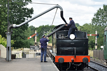 Q-class takes water at Sheffield Park - Brian Lacey - 30 July 2015