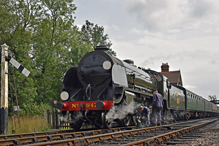 S15 being prepared for its train at Sheffield Park - Brian Lacey - 12 August 2015