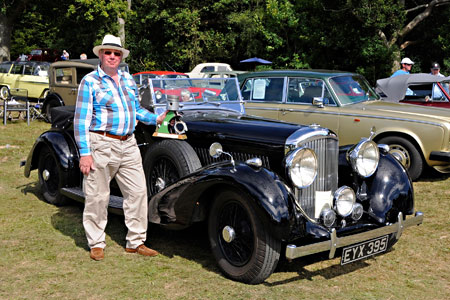 Southdown Trophy winner with his Bentley - Derek Hayward - 9 August 2015