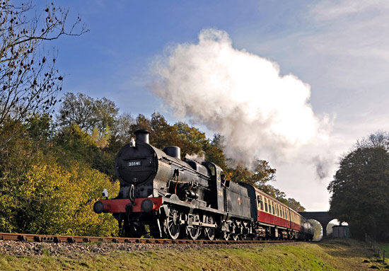 Q-class at 3-Arch Bridge on Giants of Steam weekend - Derek Hayward - 31 November 2015