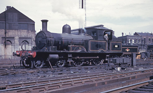 LSWR Adams 0415-class No.488 at Brighton on its way to the Bluebell - David Pool - 12 July 1961