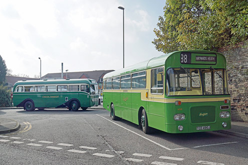 Single deckers at East Grinstead - Brian Lacey - 4 October 2015