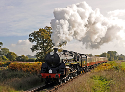 Camelot on test train at Sheffield Park Advance Starter - Derek Hayward - 20 October 2015