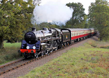 Camelot's test train near Three Arch Bridge - Peter Edwards - 20 October 2015