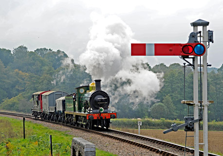 C-class with goods train at New Road Bridge - Derek Hayward - 10 October 2015